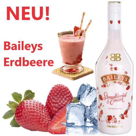 BAILEYS Strawberry & Cream 17%vol. 0,7l (1Flasche)