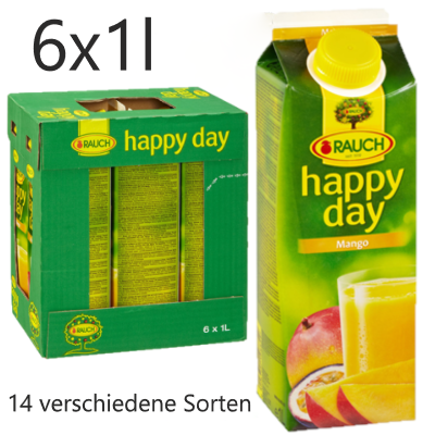 HAPPY DAY 1l (6 Tray) (14 verschiedene Sorten)