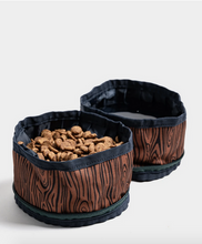 Load image into Gallery viewer, Collapsible Double Dog Bowl