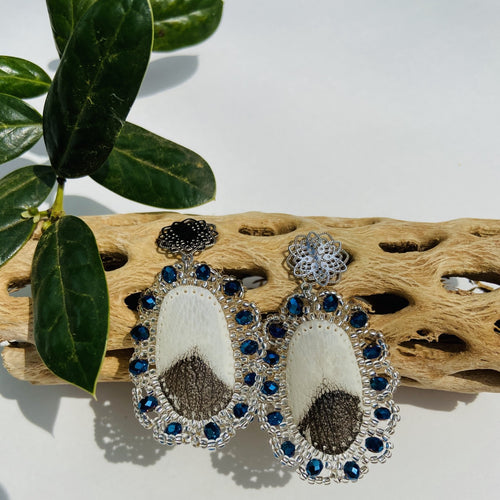 Pirarucu Blue Earrings