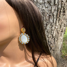 Load image into Gallery viewer, Pirarucu Ocean Blue Earrings