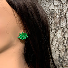 Load image into Gallery viewer, Green Melon seeds Stud Earrings