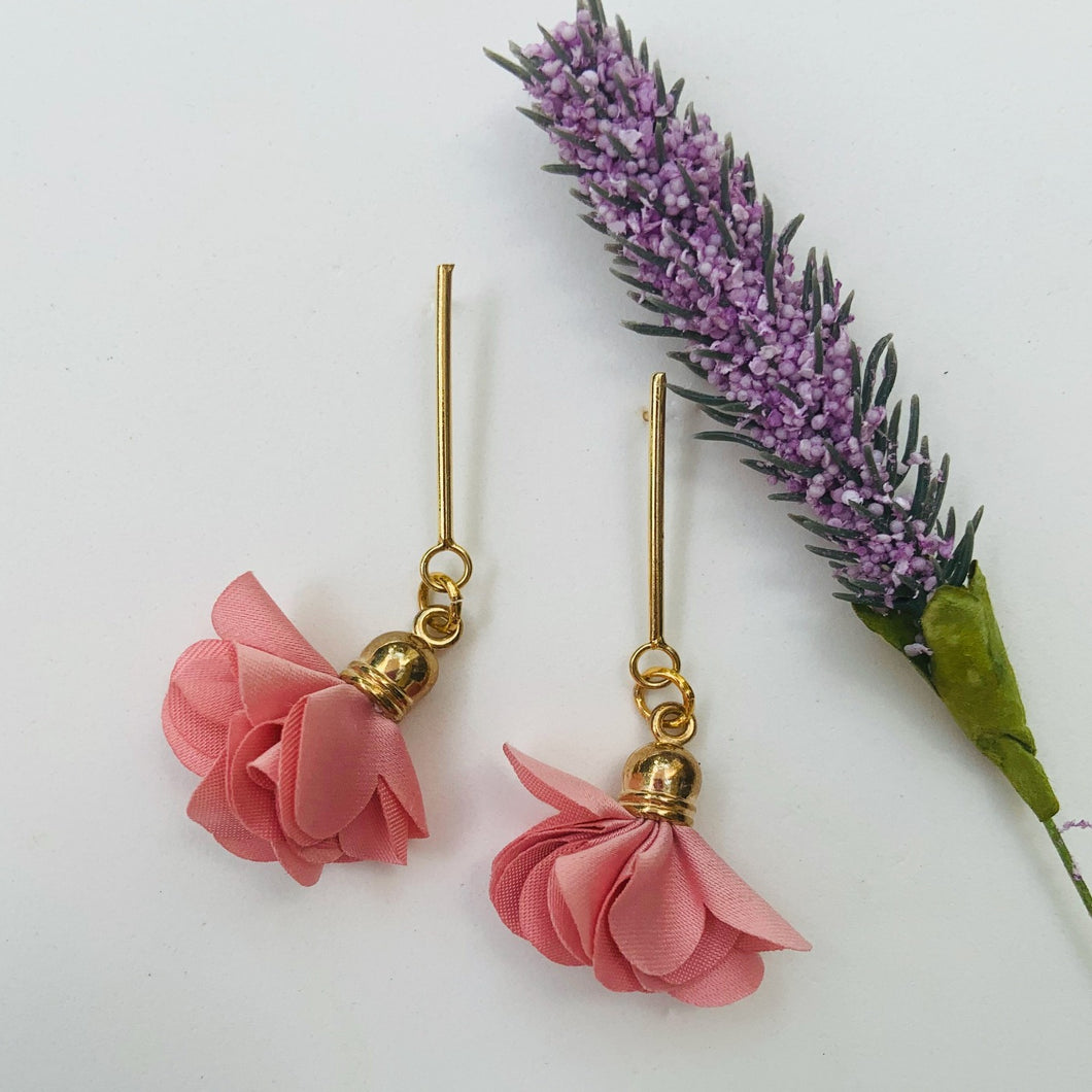 Fabric earrings *Flor Rose*