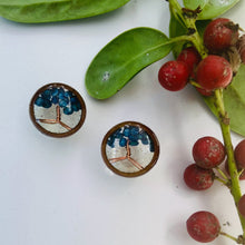 Load image into Gallery viewer, Blue life tree Stud Earrings
