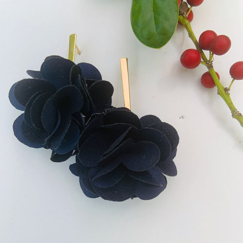 Fabric earrings *Dark Blue*