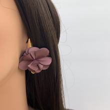 Load image into Gallery viewer, Fabric earrings *Purple*