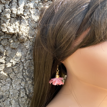 Load image into Gallery viewer, Fabric earrings *Flor Rose*
