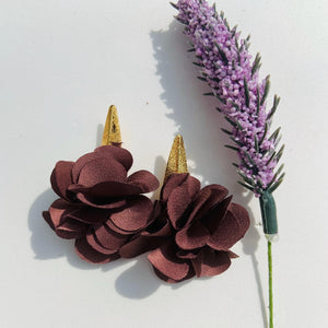 Fabric earrings *Purple*