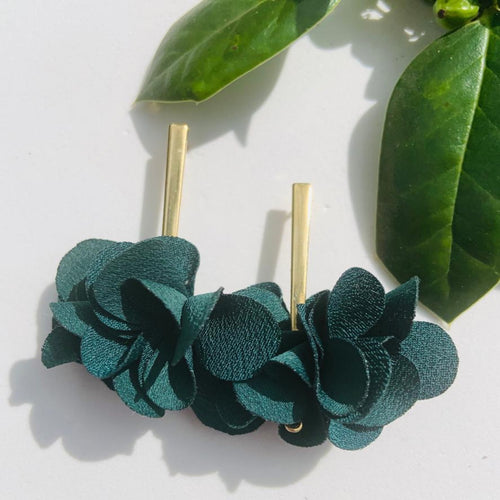 Fabric earrings *Dark Green*