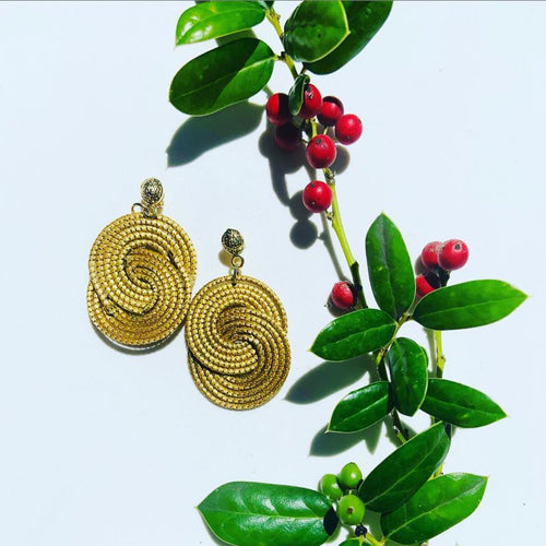Capim Dourado Two  lazos Earrings