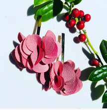 Load image into Gallery viewer, Fabric earrings *Flor pink*