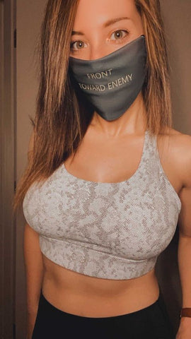 Claymore Yellow Lettering Face Mask accessories Jenn