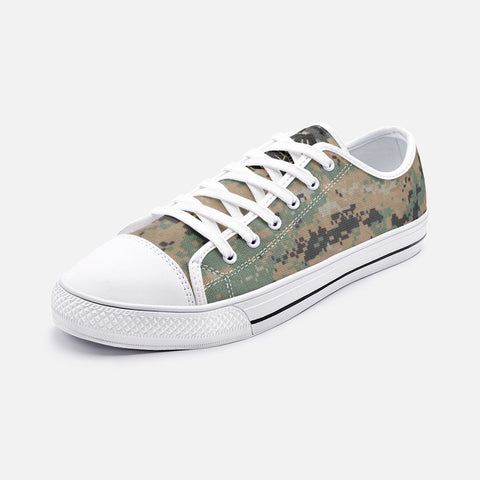 USMC Woodland MARPAT all over Unisex Low Top Canvas Shoes accessories