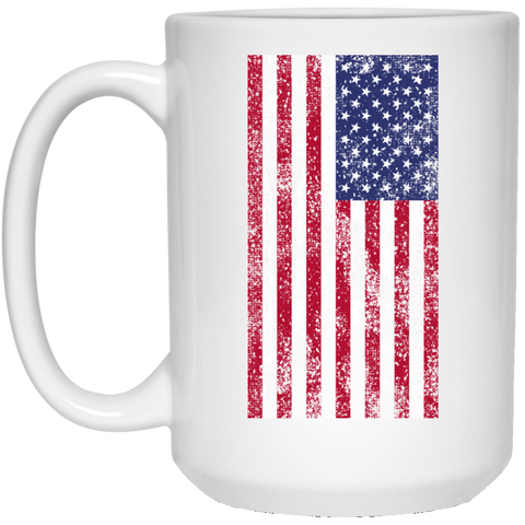 USA Flag 15 oz. White Mug Accessories