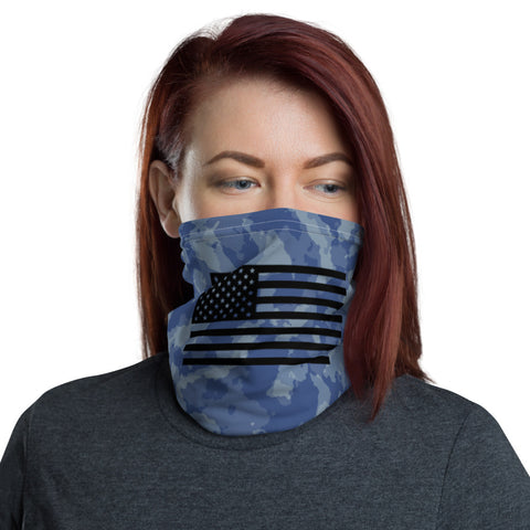 Blue Camo Flag Neck Gaiter accessories
