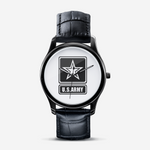 US Army Classic Fashion Unisex Print Black Quartz Watch accessories