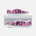 Pink Camo Skull Canvas Low Cut Sneakers accessories