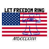 Freedom Ring Bubble-free stickers accessories