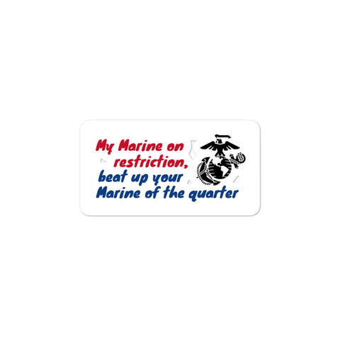 Marine Restriction stickers accessories