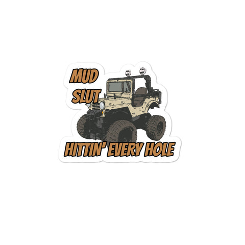 Mud Holes Bubble-free stickers accessories