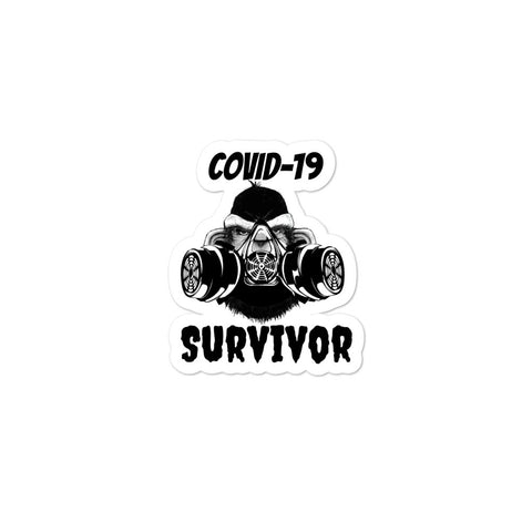 COVID Survivor Bubble-free stickers accessories
