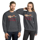 Gingerbread Naughty Unisex Sweatshirt funny