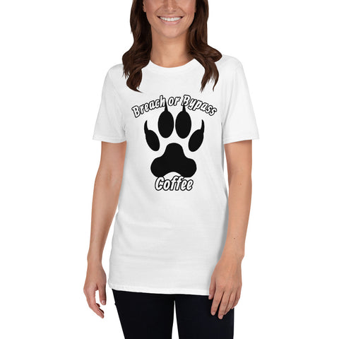 BorB Coffee Wolf Print Short-Sleeve Unisex T-Shirt