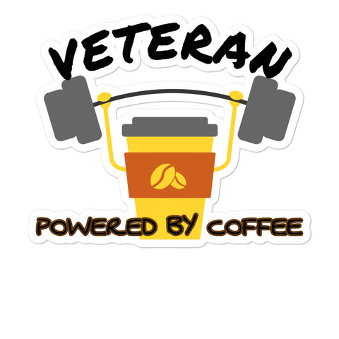 Veteran Coffee Bubble-free stickers accessories