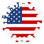 COVID USA stickers accessories