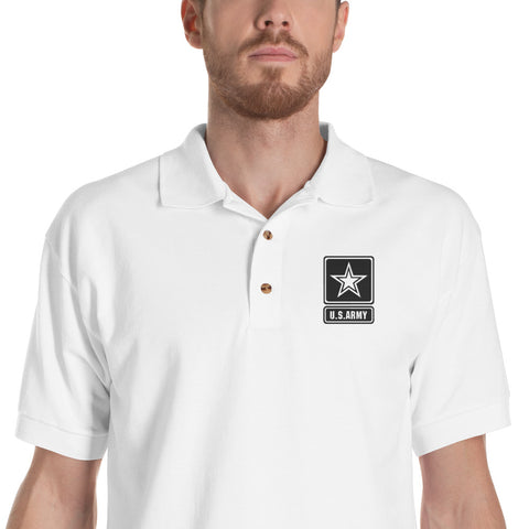 Army Embroidered Polo Shirt Military