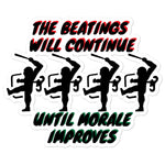 Beatings Morale Bubble-free stickers accessories
