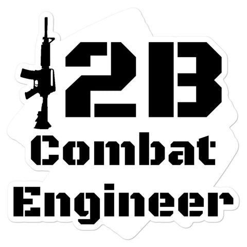 12B Combat Engineer Bubble-free stickers accessories