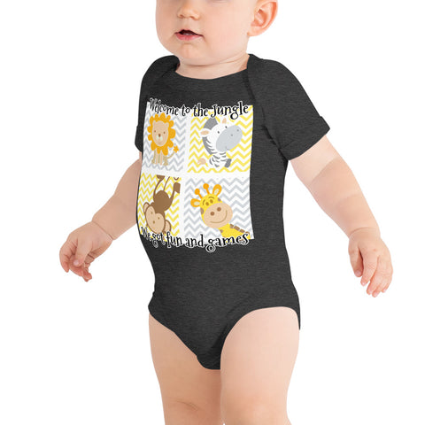 Jungle baby bodysuit funny