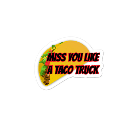 Taco Truck Bubble-free stickers accessories