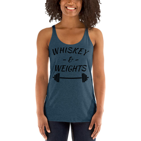 Whiskey Weights Women's Racerback Tank Funny