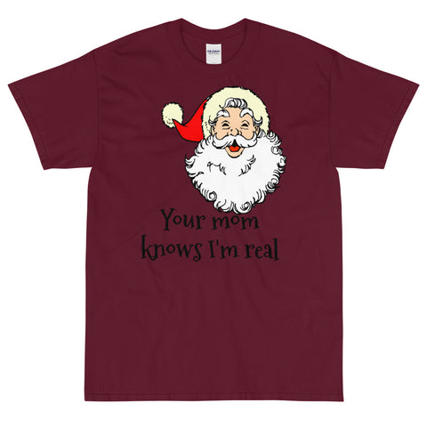 Your Mom Santa Short Sleeve T-Shirt funny