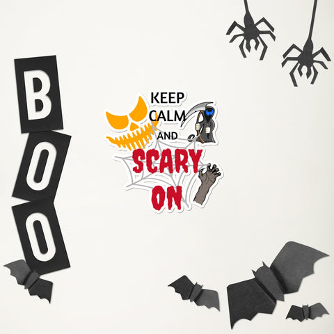 Calm Scary on Bubble-free stickers accessories