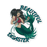 Beautiful Disaster Mermaid stickers accessories