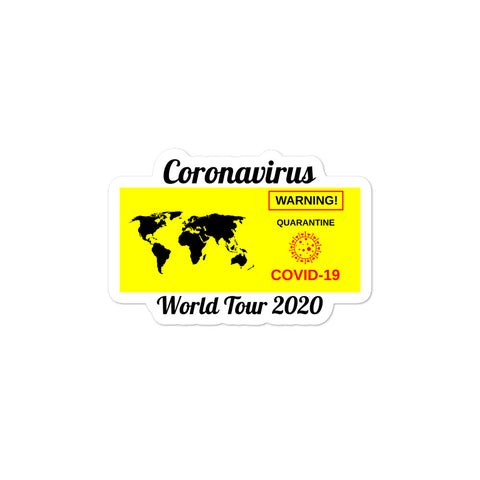 COVID World Tour Bubble-free stickers accessories