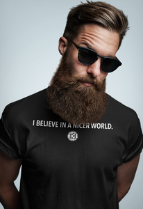 SNC T-Shirt: BELIEVE IN A NICER WORLD | Black - Unisex