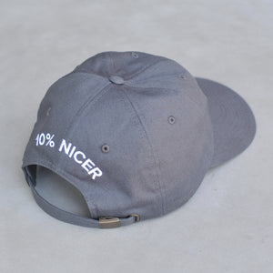 Super Nice Club Relaxed Fit Hat | Gray Goodness