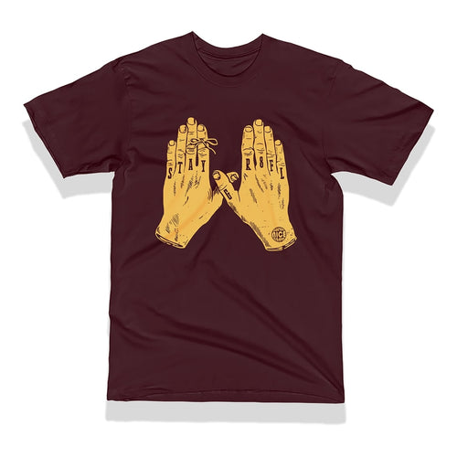 Super Nice Club T-Shirt: STAY GR8FL (gold/black)