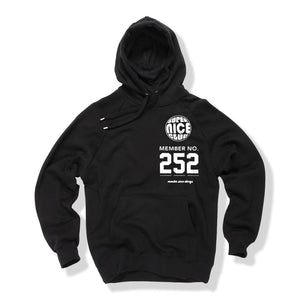 Super Nice Club: The Super Nice Hoodie (w/ membership #)