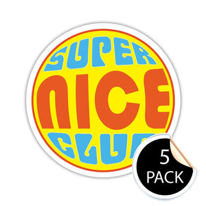 The Super Nicest Stickers Ever (Pack of 5)