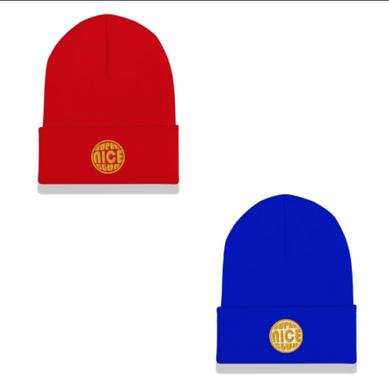 The Super Nicest Beanie:  Blue +  Red
