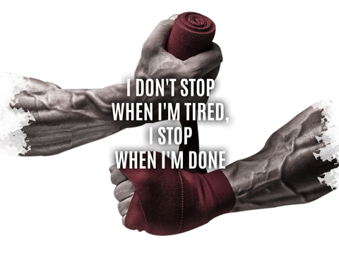 I don't stop when i'm tired - Design 2020