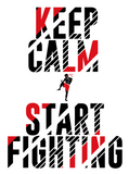 sportlicher Hoodie - Keep Calm & Start Fighting