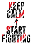 American Vlies-Hoodie - Keep Calm & Start Fighting