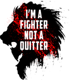 Multifunktionstuch - I'm a fighter not a quitter