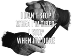 extra weiches T-Shirt - i don't stop when i'm tired